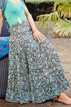 Cotton Gypsy Maxi Skirt by Charlotte's Web Maxi Skirt Style, Charlotte's Web, Cotton Skirt, Gypsy Style, Everyday Look, High Waisted Skirt, Sequin Skirt, Feminine, Stylish