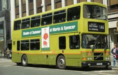 Over 20 years ago, May 1997 to be precise were delivered in Dublin Bus Green, they were to be the last buses to be factory finished in this livery, is seen a few days old on a service on D'olier Street Bus Coach, Dublin Ireland, 20 Years, Volvo, Transportation, Coaches, Buses, City, Trains