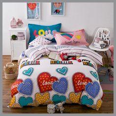 Flower bedding set winter 100% cotton bed set 4pcs adult bed linens floral duvet cover + flat sheet queen size 2017 bedclothes