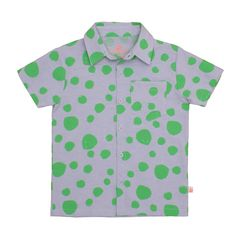 Noé & Zoë SS 16 - shirt in green dots http://www.noe-zoe.com/Collections/SS-16/