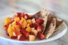 Cook: Summer fruit salsa with cinnamon sugar tortilla chips - itsalwaysautumn - it's always autumn