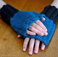Knit a pair of fingerless gloves in just one evening. These make a great Christmas gift too.