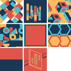 9 Squares: A Collaborative GIF Project for Nine Designers Using Four Colors in Three Seconds