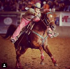 #WCW @FallonTaylor3 because she's one of the raddest barrel racers and you wish you could rock pink pants like her.
