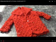 Abrigo para bebe de 3 a 6 meses. crochet parte 1/2