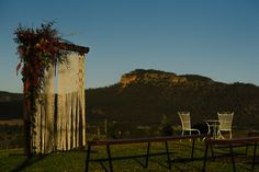 Ceremony with a view! Styling by Love and Protect Photography by Location by Us Adam's Peak, Hunter Valley Wedding, Country Estate, Wedding Themes, Outdoor Structures, Weddings, Living Room, Photography, Style
