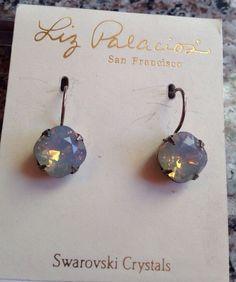 Liz Palacios Silver With Opal Cushion Cut Swarovski Crystal Earrings NWT #LizPalacios Liz Palacios, Swarovski Crystals, Drop Earrings, Jewelry, Jewlery, Jewerly, Schmuck, Drop Earring, Jewels
