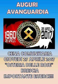 AVANGUARDIA NAZIONALE BERGAMO: AVANGUARDIA BRESCIA/LOMBARDIA IN FESTA IL 27 APRIL...