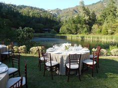 Gorgeous outdoor wedding setup at Calistoga Ranch