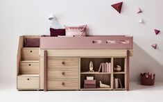 Kids' furniture stores in Hong Kong – Stylish beds, desks, and decor - DIY and crafts Small Room Design, Kids Room Design, Girl Room, Girls Bedroom, Master Bedrooms, High Beds, Low Loft Beds, Kids Bunk Beds, Small Bedrooms