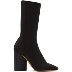 YEEZY - Black Knit Ankle Boots