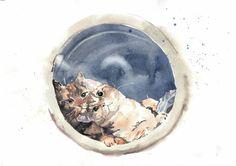 Custom pet portrait in watercolor by MicromysWatercolor on Etsy