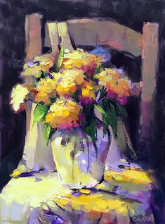 Flowers on a Chair by Trisha Adams Oil 24 x 18 Flowers on a Chair by Trisha Adams Oil 24 x 18 The post Flowers on a Chair by Trisha Adams Oil 24 x 18 appeared first on Diy Flowers. Oil Painting Flowers, Abstract Flowers, Abstract Art, Painting & Drawing, Painting Still Life, Still Life Art, Selling Paintings, Wow Art, Fine Art