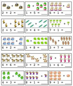 FREE worksheets, create your own worksheets, games. Kindergarten Addition Worksheets, First Grade Math Worksheets, English Worksheets For Kids, Preschool Worksheets, Preschool Printables, Free Worksheets, Preschool Writing, Preschool Learning Activities, Special Education Math