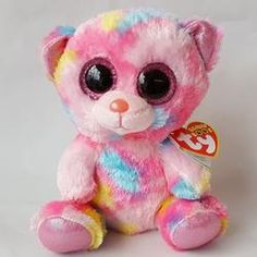 a360a707609 6 inch Beanie Boo  Franky Pink Multicolor Bear Ty Babies