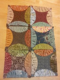 Rob Peter to Pay Paul Quilt block. That's interesting how they are tufted.