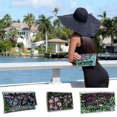 ART TO WEAR Collection Handbags by Miami Gallery Artist Holly A. Jones. Original Hand Painted and Limited Edition.   To view collection, visit www.hollyajones.com  #ShopOnline at www.etsy.com/shop/ElegantArtista