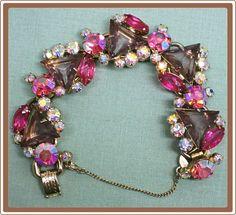 Vintage Juliana Delizza and Elster Triangle Stone Rhinestone Bracelet $165