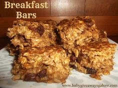 Heathly Breakfast Bars #Recipe (no oil, no sugar added) Only ONE Weight Watchers point!