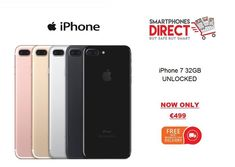 *iPhone 7 32GB NOW FROM ONLY €499*  All of our products come with a 6 month warranty, original plug and cable, retail box and FREE next working day delivery.  Have a look at our website at www.smartphonesdirect.ie  or to purchase a iPhone 7 go to https://smartphonesdirect.ie/product/iphone-7/