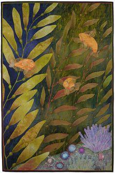 The Kelp Forest by Betty Busby--fine art quilt  #fibre #art