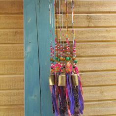Wind chimebeaded mobile with Brass bells and by RONITPETERART