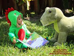 Here we find a Rory-saurus reading to her Dino friend, Dopey. What a nice girl…