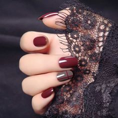 Stick On Nails, Glue On Nails, Stylish Nails, Trendy Nails, Henna Designs, Nail Art Designs, Winter Nail Designs, Gel Manicure Designs, Do It Yourself Nails