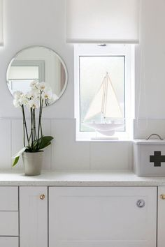 white bathroom with
