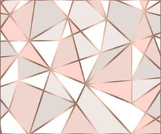 Rose Gold Perseverance Throw Pillow by histrionicole - Cover x with pillow insert - Indoor Pillow Geometric Wallpaper Rose Gold, Geometric Wall Paint, Metallic Wallpaper, Gold Bedroom, Bedroom Decor, Cadre Design, Rose Gold Aesthetic, Diy Wall Painting, Bedroom Wall Designs