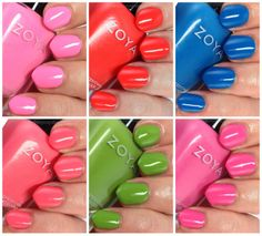 Zoya Tickled Summer 2014 #zoyanailpolish