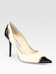 Jimmy Choo's versatile Lumina pumps look ladylike enough for the office and polish off trendy pieces like leather shorts for a nighttime look