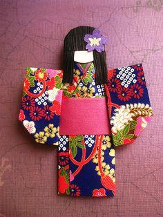 Japanese Origami Doll - Tsubaki by umeorigami, via Flickr