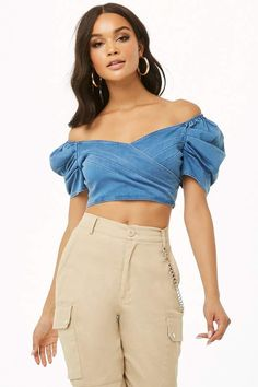 Forever 21 Chambray Puff Sleeve Crop Top#petitewomensclothing#trendypetiteclothing#inexpensivepetiteclothes#designerpetiteclothing#fashionablepetiteclothing#petitedresses#outfitideasforwomen#outfits#trendy#trendyoutfitsforwomen#springoutfits#denim#denimondenim#denimoutfit#denimoutfitideas#denimoutfitideasforwomen#denimfemale#denimshirt#denimshirtdress#denimshirtoutfit#denimshirtoutfitspring#denimshirtoutfitwinter#ad
