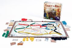 Ticket To Ride: Fun family game of building railroads to different cities & blocking your competitors. Players also get a bonus of US geography while playing.  (2-5 Players)  (Also available as very good iOS game for iPhone/ iPad.  Can also purchase other board extensions for variations on gameplay)
