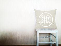 Monogram pillow decorative throw pillows cover monogrammed pillows outdoor pillows throw pillow monogrammed pillow cover 20x20 inches pillow