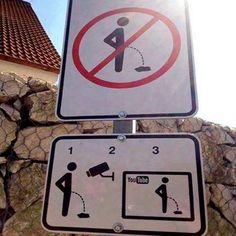 Funny Signs | Brilliant! | How they prevent people from urinating in public in the Czech Republic | Interesting Things on Google+