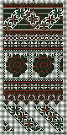 Cross Stitch Gallery, Cross Stitch Borders, Cross Stitch Charts, Cross Stitch Designs, Cross Stitching, Cross Stitch Patterns, Blackwork Embroidery, Folk Embroidery, Cross Stitch Embroidery