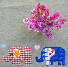 Lucy's first foray into appliqué many years ago.