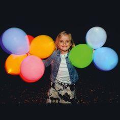 Luftballons, 15-tlg., Light up Balloons, Leuchtend, ca. 15h Leuchtdauer Vorderansicht