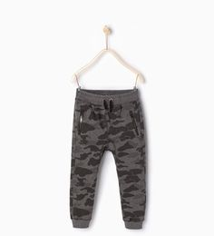 Camouflage plush trousers-Trousers-Boy | 4-14 years-COLLECTION SS16 | ZARA United States