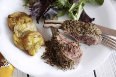 Pepper crusted racks of lamb with horseradish crème fraiche. A perfect combination of tender and juicy lamb with a crunchy crust. Quick Easy Dinner, Quick Easy Meals, Easy Dinner Recipes, Dessert Recipes, Drink Recipes, Easter Recipes, Holiday Recipes, Creme Fraiche Sauce, Crusted Rack Of Lamb