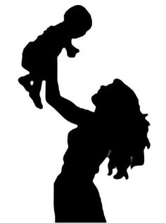 Mother Holding Baby Silhouette clip art - vector clip art on . Baby Silhouette, Silhouette Cameo, Person Silhouette, Holding Baby, Crayon Art, Mothers Love, Happy Mothers, Mother And Child, Mother Art