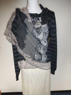 """Kurzjacken - Jackenschal """"GreyLace"""" - ein Designerstück von AutumnFlowers bei DaWanda"""