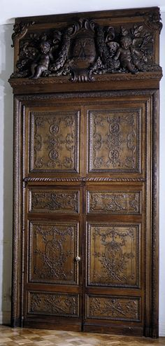 Panels from the shutters formerly in the Chapel Room at Versailles Robert de Cotte  (French, Paris 1656/57–1735 Paris)  Maker:     Jules Degoullons (French, ca. 1671–1737) Date:     ca. 1710 Culture:     French Medium:     Oak