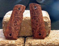 Floral Scroll Mesquite Colt 1911 Pistol Grips | eBay