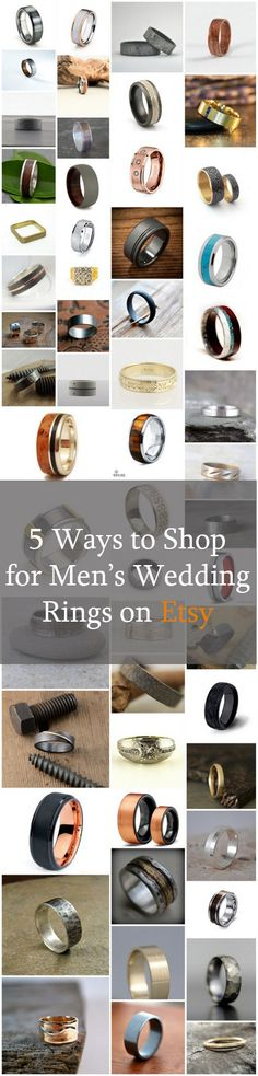 5 Ways to Discover Men's Wedding Rings on Etsy #mensweddingring