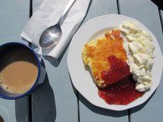 Ålandspannkaka / Åland Pancake (by me) Faroe Islands, Pancake, Iceland, Denmark, Yummy Food, Drink, Eat, Breakfast, Gold