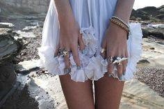 I love the nail polish, and the rings = want!