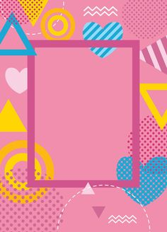 Ideas Geometric Art Poster Backgrounds For 2019 Pink Pattern Background, Kids Background, Powerpoint Background Design, Poster Background Design, Chalkboard Art Quotes, Pink Wallpaper Backgrounds, Instagram Background, Art Therapy Activities, Memphis Design